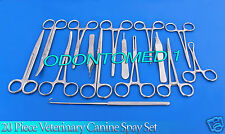 20 Piece Veterinary Canine Spay Set Kit Pack Dog surgical