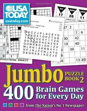 USA TODAY Jumbo Puzzle Book 2: 400 Brain Games for Every Day by USA TODAY, (Pape