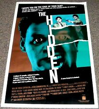 THE HIDDEN 1987 ORIG. NM 27x41 MOVIE POSTER! KYLE MacLACHLAN SCI-FI ALIEN ACTION
