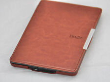 BROWN SMART(Automatic wake) PU LEATHER CASE COVER FOR AMAZON KINDLE PAPERWHITE