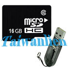 OEM 16GB 16G Class 10 Micro SD Micro SDHC TF Flash Memory Card + R2