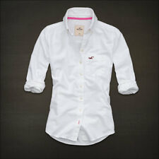 NEW Womens %HOLLISTER ABERCROMBIE% White Casual Shirt Sz.L