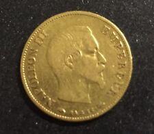 Piece 10 Francs Or Napoléon 3 1859 A Empire Français F.506/7 French Gold Coin