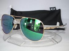 NEW OAKLEY ELMONT L AVIATOR SUNGLASSES OO4119-0360 Satin Gold / Jade Iridium