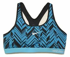 Nike Pro Classic Padded Freeze Frame Sports Bra Womens M 708021 Med Support NEW