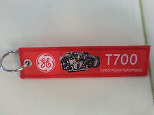 GE T700 Combat Proven Performance / Remove Before Flight Tag Keychain / New