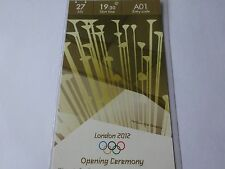 London 2012 Olympic Games ORIGINAL CAT AA £2012 OPENING CEREMONY Ticket MINT !