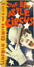 CUT 80$$  THE BIG APPLE CIRCUS 1981 CIRCUS POSTER - AMAZING FUN PAUL DAVIS ART!