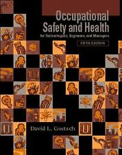 Occupational Safety and Health for Technologists, Engineers, and  Mana-ExLibrary