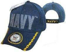 U.S. Navy OFFICIALLY LICENSED With Seal NAVY LOGO EMBROIDERED Baseball Cap Hat