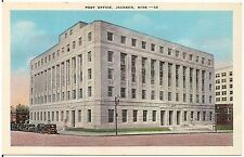 Post Office in Jackson MS Postcard