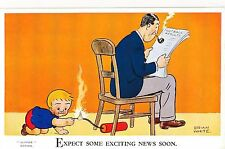POSTCARD COMIC   NIPPER   Expect some exciting..... B  White