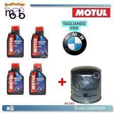 TAGLIANDO FILTRO OLIO + 4LT MOTUL 5000 10W40 BMW K-100 RS 1991 1992 1993 1994