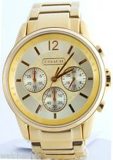 Coach Women's 14501505 Boyfriend Bracelet Gold-tone Dial Quartz Watch