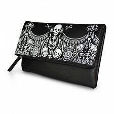 Loungefly Skull Emboss Clutch Women Black Clutch