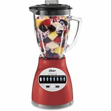 14 Speed Blender Boroclass Glass Pitcher 6 Cup Stainless Steel Blade Pulse Red