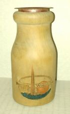 vtg 1939 New York World's Fair wooden milk bottle BANK FREE SHIP