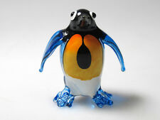 Aquarium MINIATURE HAND BLOWN GLASS Dark Blue Penguin FIGURINE Collection
