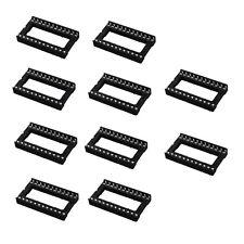 10PCS DIP 24 pins wide IC Sockets Adaptor Solder Socket brand new