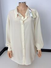 STELLA MCCARTNEY cream 100% Silk Shirt Top £500 Size 44 Uk 14 New BNWTS  Blouse