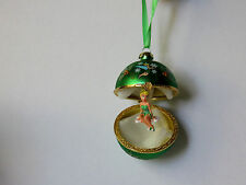 Disney Parks Tinker Bell Hinged Holiday Christmas Ornament Autographed By Tink