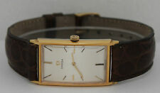 Vintage Omega Hand-Winding Gold Plated Silver Dial Circa 1970s 23 X 34mm Watch