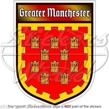"GREATER MANCHESTER England UK Shield Vinyl Bumper Decals-Stickers 4"" (100mm)x1"