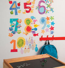 WALLIES COUNTING NUMBERS wall stickers 65 decals interactive EDUCATIONAL count