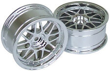 RC Car 1/10  RIMS  WHEELS Package KAWADA Mesh Narrow 26mm CHROME   *SET OF 2*