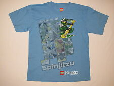 NWT LEGO NINJAGO MASTER  OF SPINJITZU T shirt BOY youth size 18 blue