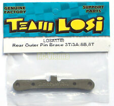"Team Losi 1/8 8ight Rear Outer Pin Brace 3T/3A for 8B & 8T ""NEW"" LOSA1749"
