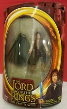 NIB Lord of the Rings The Two Towers Frodo Action Figure Light Up Sting Sword