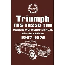 Triumph TR5 TR250 TR6 Owners Workshop Manual book paper