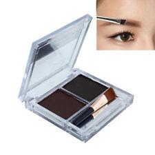Waterproof 2 Colors Makeup Eyebrow Powder Palette Kit Coffee & Brown Cosmetic