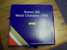 1/43 ONYX 4 CAR SET DAMON HILL WILLIAMS FW15/FW16/FW17/FW18 1996 WORLD CHAMPION
