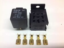 12V 40/30amp Relay 5 pin change over Relay +  Relay base / holder