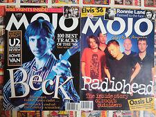 MOJO Magazine UK Music Lot of 4 from 1997 and 2000 Beck Radiohead Velvet UnGd ++
