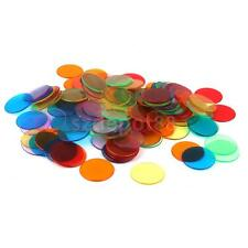 120 Assorted Plastic Bingo Chips 3cm Ideal for Classroom Carnival Bingo Game