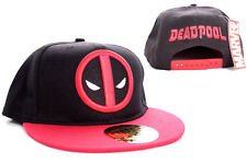 AWESOME MARVEL COMICS DEADPOOL SYMBOL RED AND BLACK SNAPBACK CAP HAT *BRAND NEW*