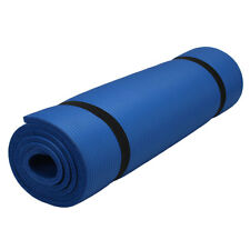 "New 10mm Thick Non-Slip Yoga Mat Pad Exercise Fitness Light Weight 72""x24"" Blue"