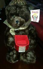 """Gund Zales Gift Box Plush Bear 17"""" Make a Wish Engagement Jewelry Surprise #Q7"""