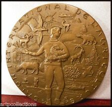 1974 MÉDAILLE BRONZE CGA SALON INTERNATIONAL AGRICULTURE ANIMALS