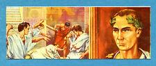 I GRANDI DELLA STORIA - Figurina/Sticker n. 41+42 - CAIO GIULIO CESARE -Rec