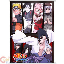 Naruto Shippuuden Group Wall Scroll  GE5255 Fabric SilkPrinting Anime Poster