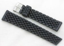 Black 20mm Tropic watch band type rubber beads of rice style for vintage divers