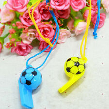 2X Colourful football Whistles / Classic Pea Whistle - Referee / World Cup JB