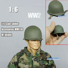"""1/6 Scale Soldier Accessories WWII US M1 helmet Green For 12"""" Action Figure"""