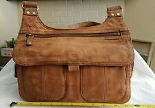 Fossil Distressed Soft Leather  Crossbody Purse Bag with Organizer Wallet