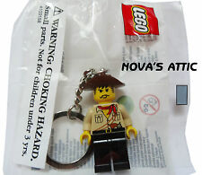 LEGO JOHNNY THUNDER KEYRING KEYCHAIN MINIFIGURE BRAND NEW