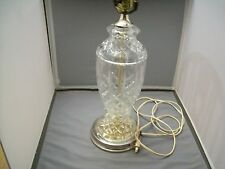 Vintage 1950-60s Clear Pressed Glass Table Lamp Base